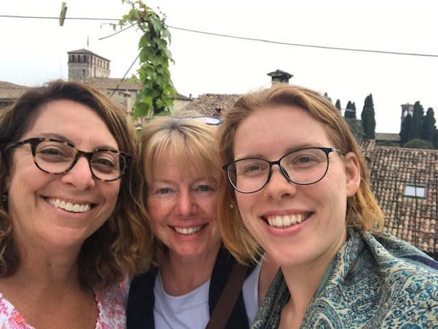 Writer's Retreat - it's a wrap! Nicole, Janet and Lucy - Asolo, Sept 2019