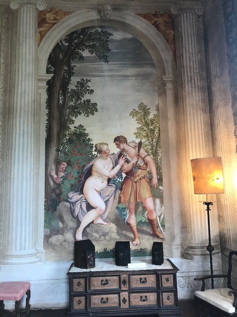 Villa Emo - frescoes by Zelotti - Venus falls for Adonis