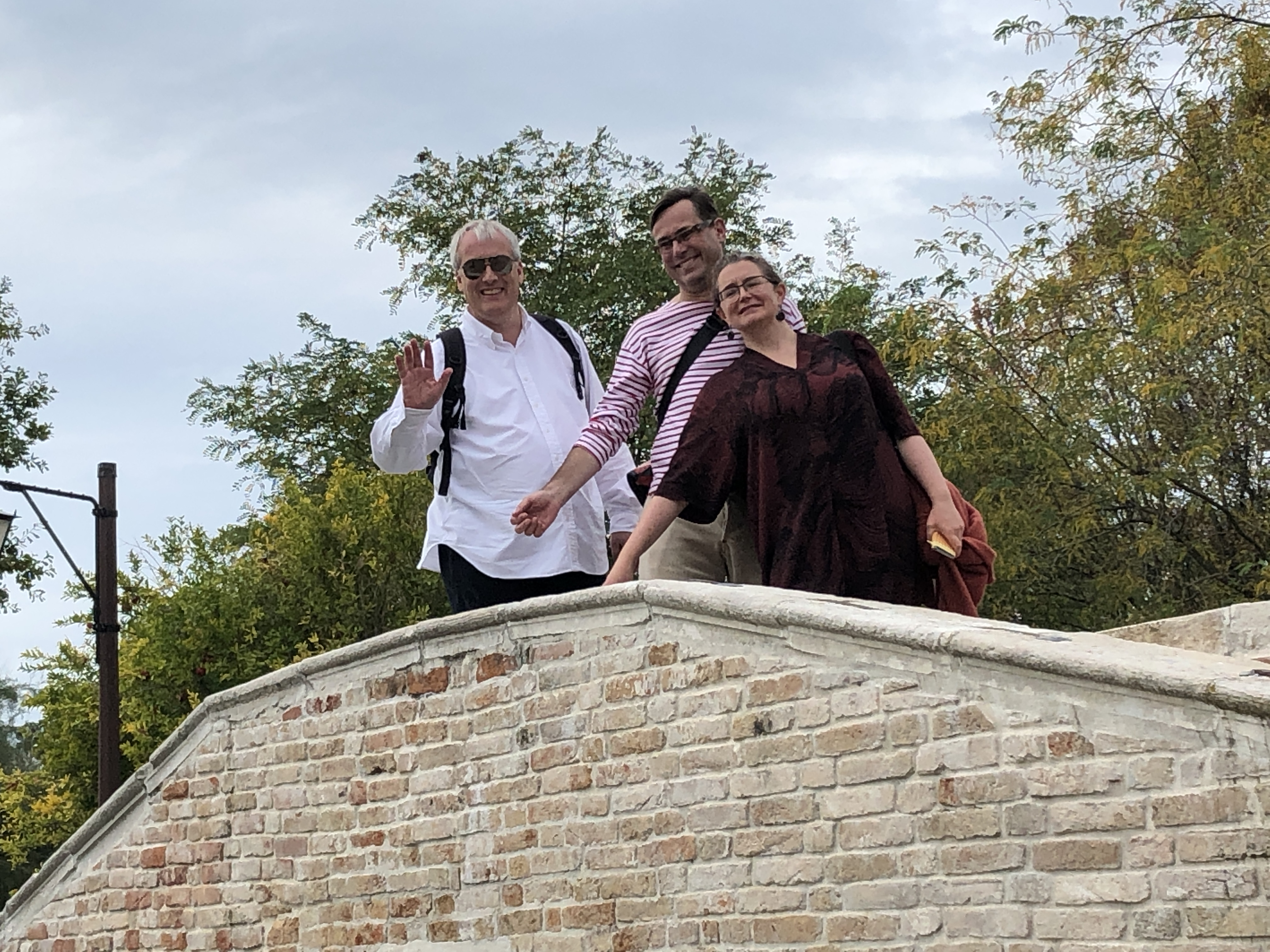 Torcello - October, 2019 - friends on the bridge!