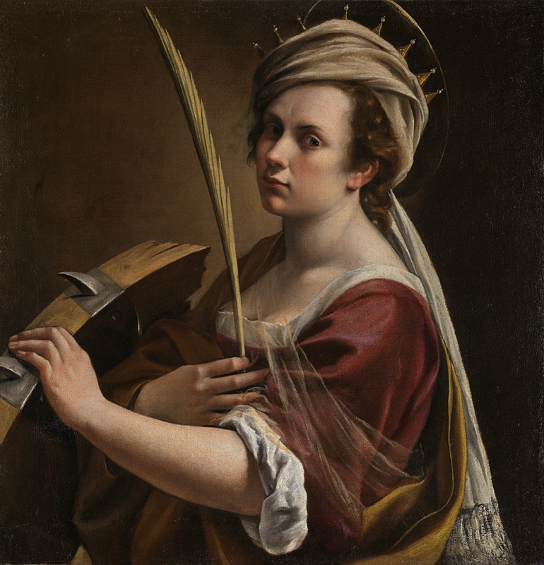 This is a 1616 painting of St Catherine of Alexandria by female artist Artemisia Gentileschi - National Gallery, London