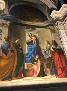Bellini Masterpiece - Madonna + Saints Peter, Catherine, Lucy and Jerome - Church of San Zaccaria, Venezia - 1505