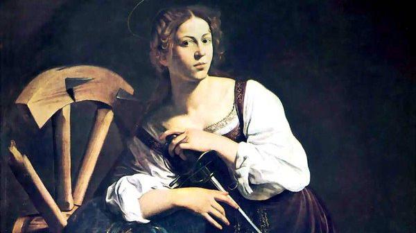Caravaggio - Santa Caterina di Alessandria (1598) - Madrid