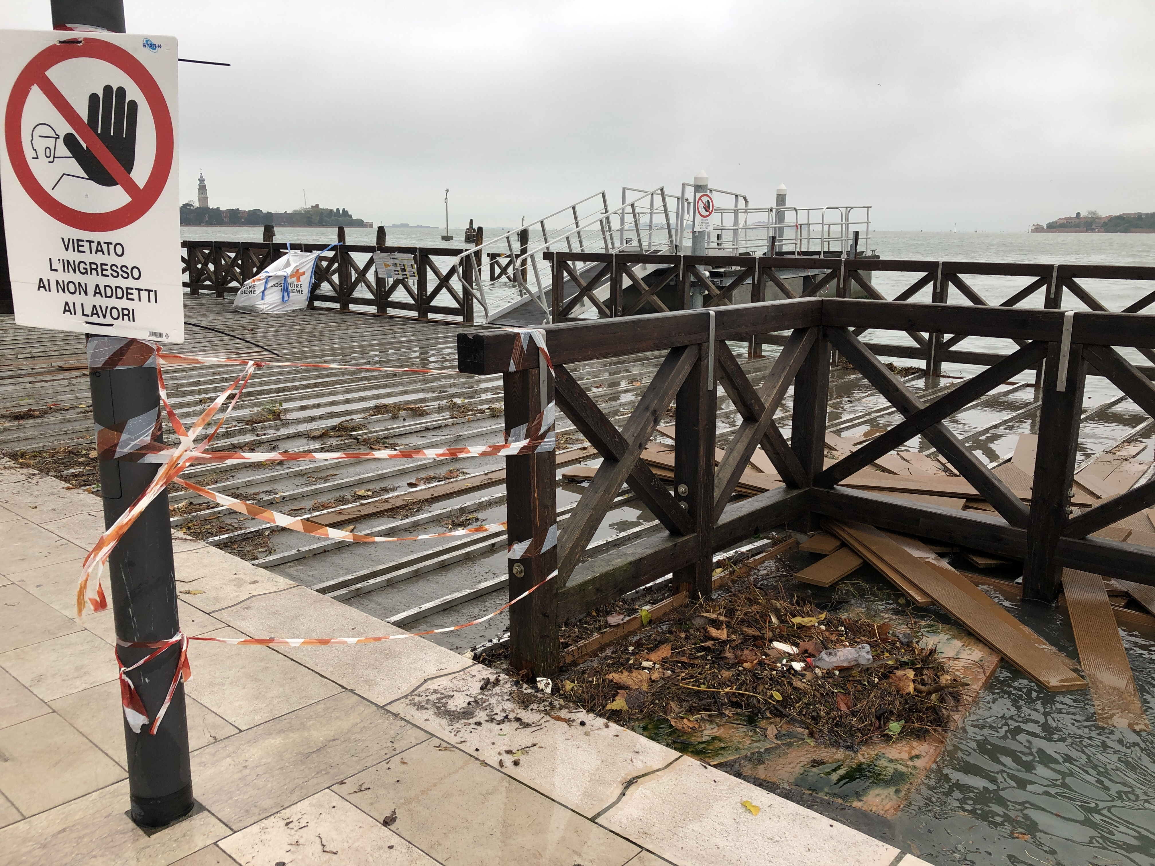 Lido di Venezia - a big mess after the storm