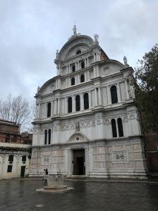 San Zaccaria, Venice - Nov, 2019 - impressive mixture of Gothic and Renaissance