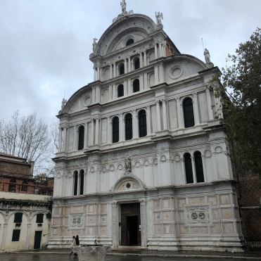 San Zaccaria, Venice - Nov, 2019 - impressive mixture of Gothic and Renaissance
