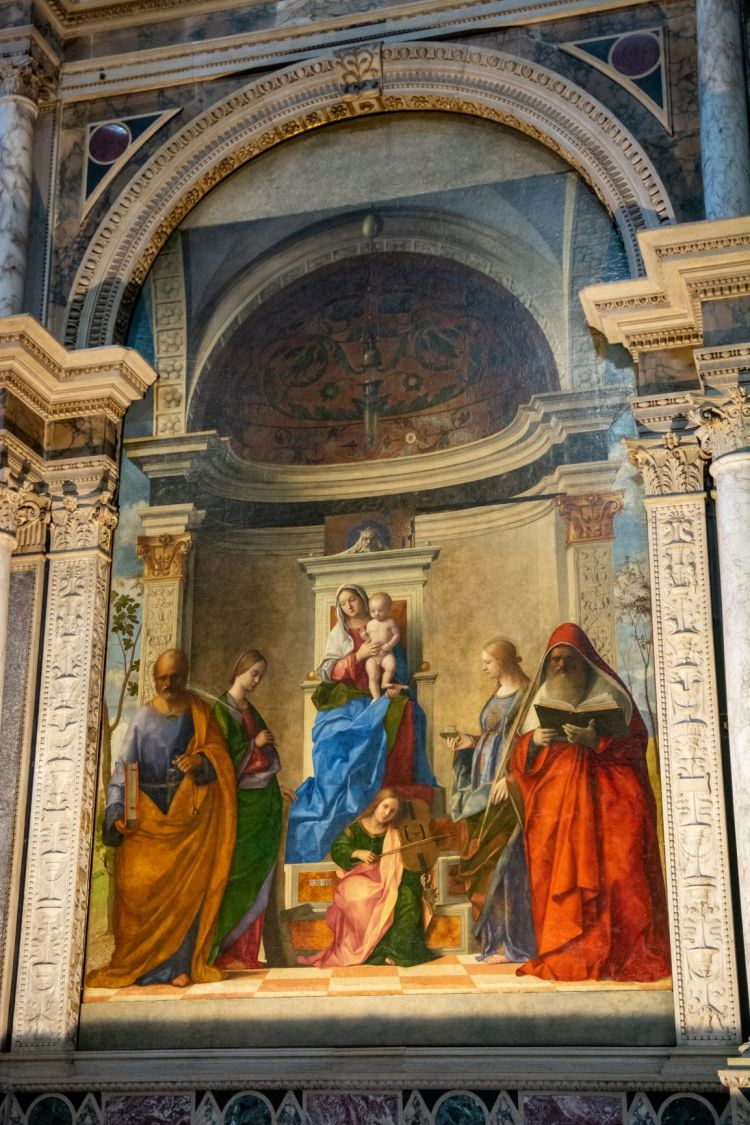 Dec 2019 - Bellini - Madonna and Saints in San Zaccaria Church - by Mark Caplan