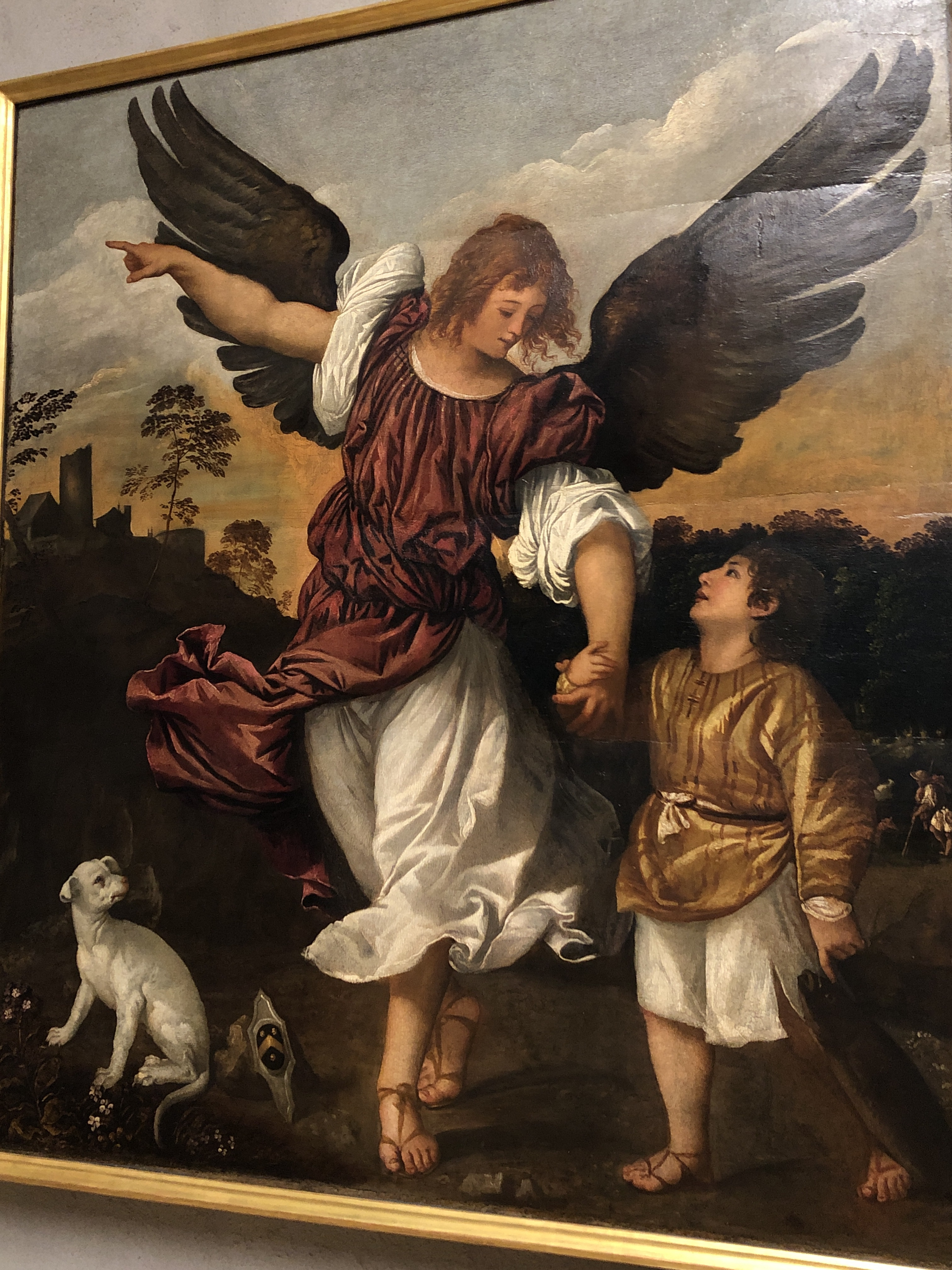 Titian's Tobias and the Angel reminded me immediately of Salley Vickers novel of the same name. Beautifully painted, light & movement. Trust and joy.