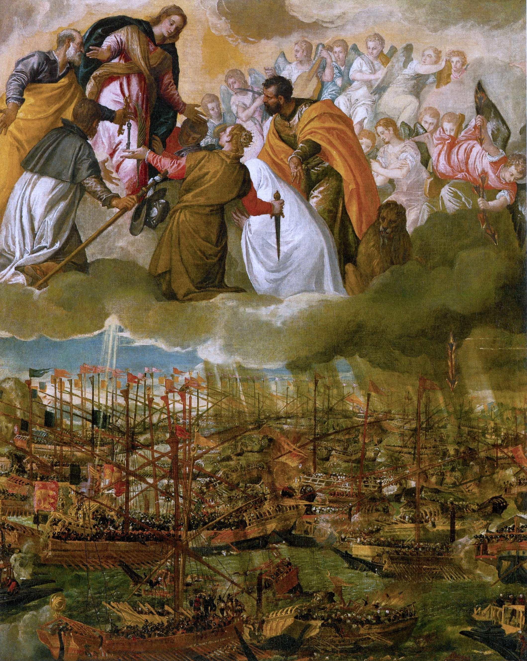 Veronese - The Battle of Lepanto in 1571 was billed as a great victory for the Venetians, who of course had Christianity on their side. In fact it marked the end of Venetian dominance of the eastern Mediterranean.