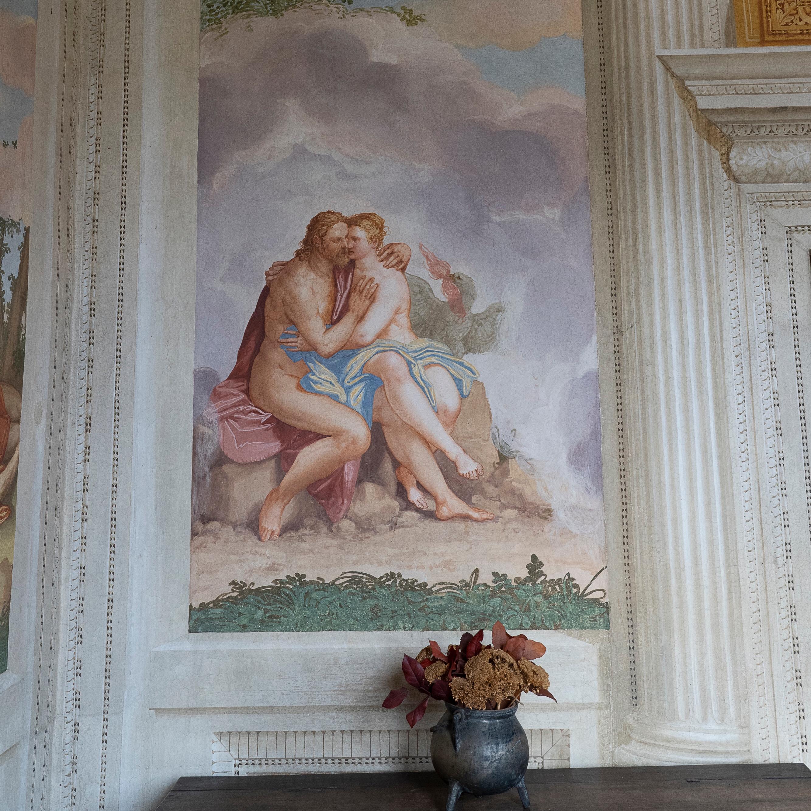 Jupiter and Io - fresco by Zelotti, 16th century - Villa Emo, Fanzolo, Veneto, Italy