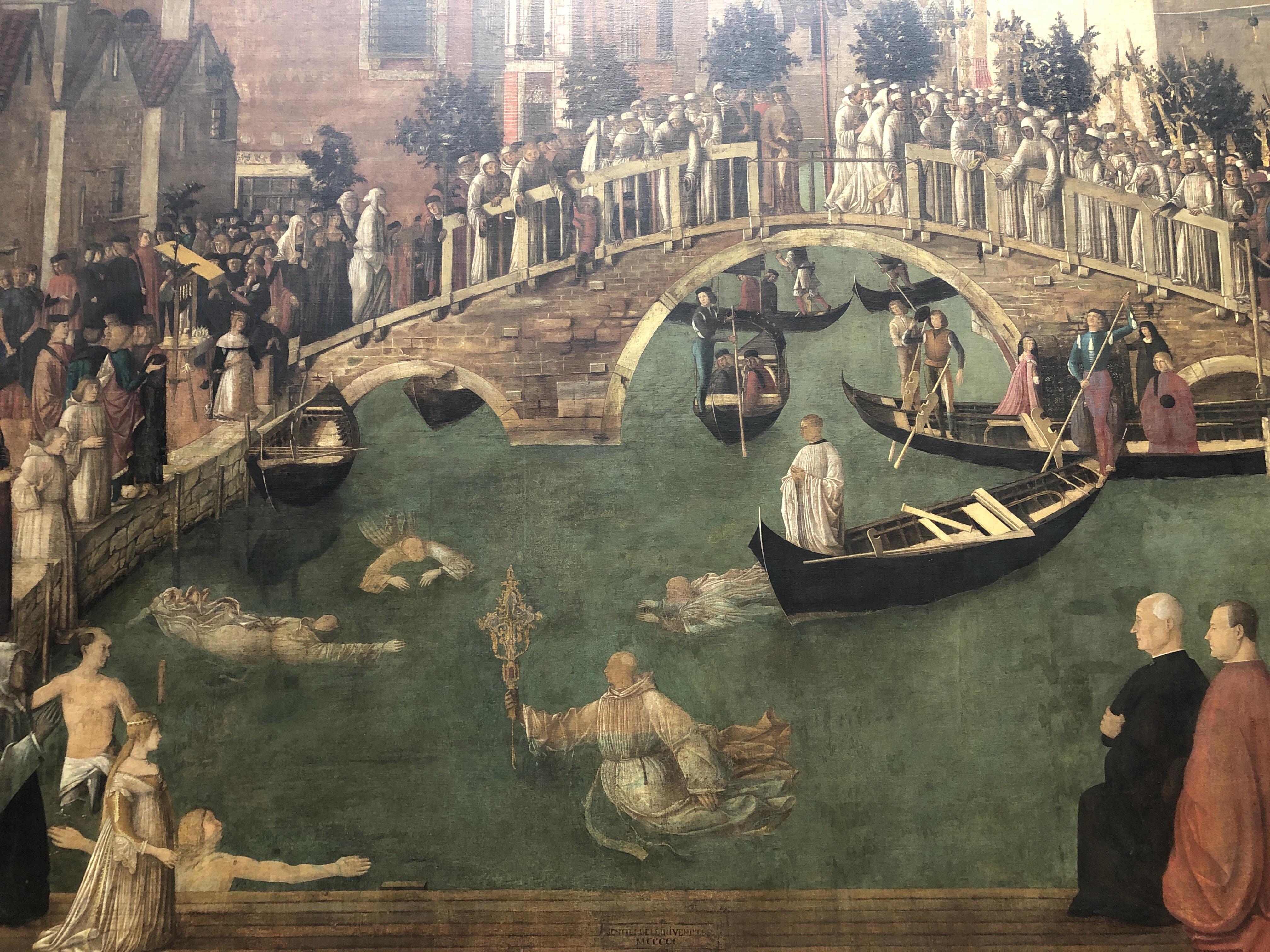 Miracle of the relics of the cross at Ponte San Lorenzo - Bellini c.1500