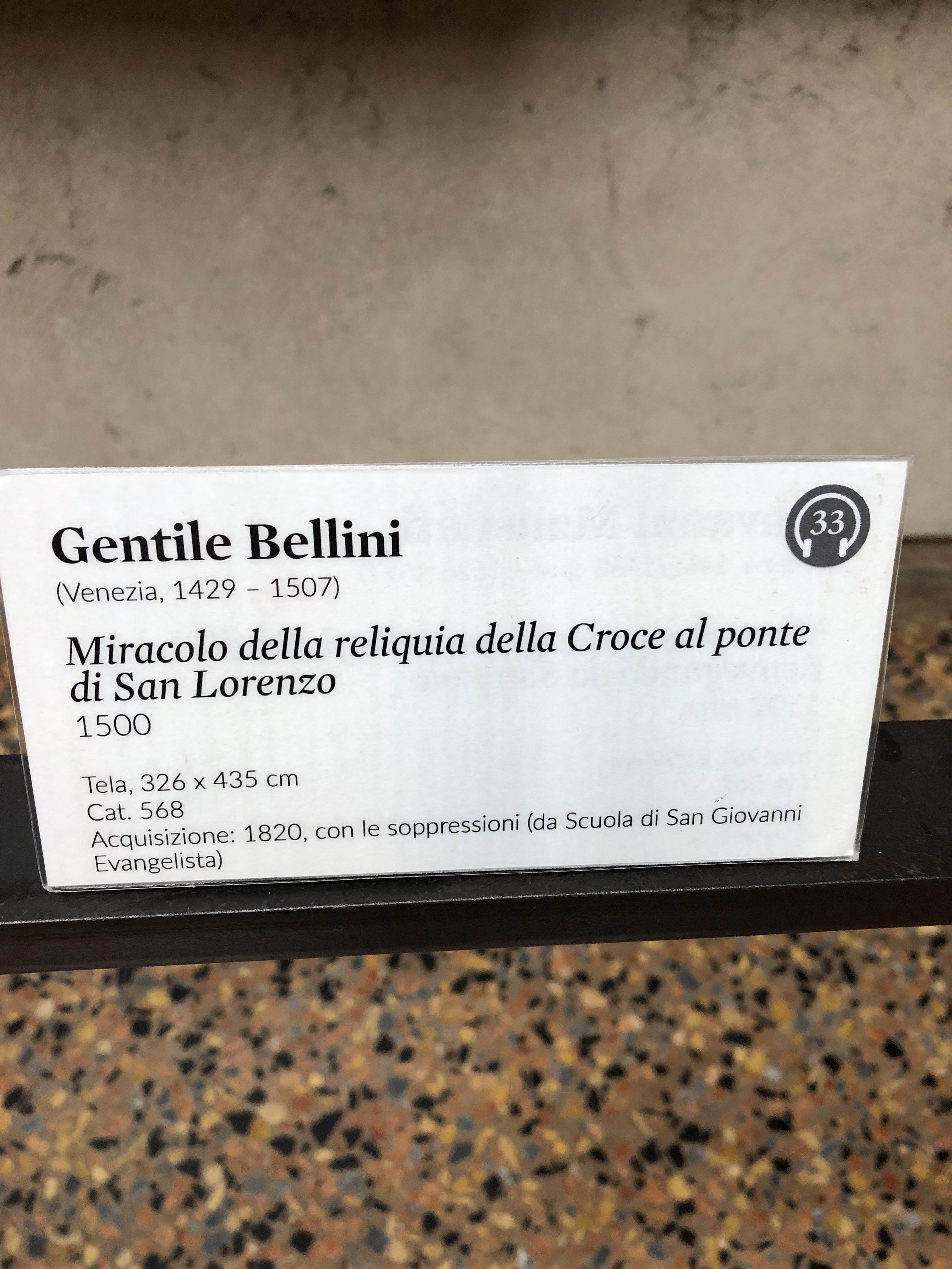 Gentile BELLINI - details of Miracolo al Ponte San Lorenzo, 1500