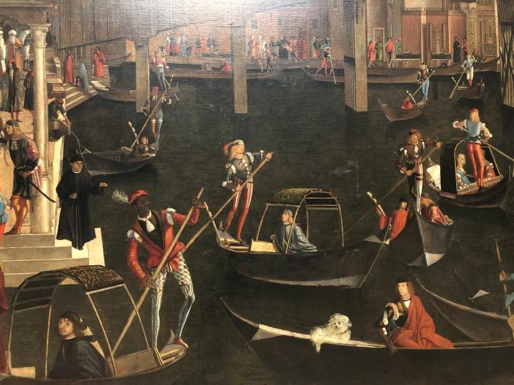 Detailed painting of Rialto - Carpaccio 1494