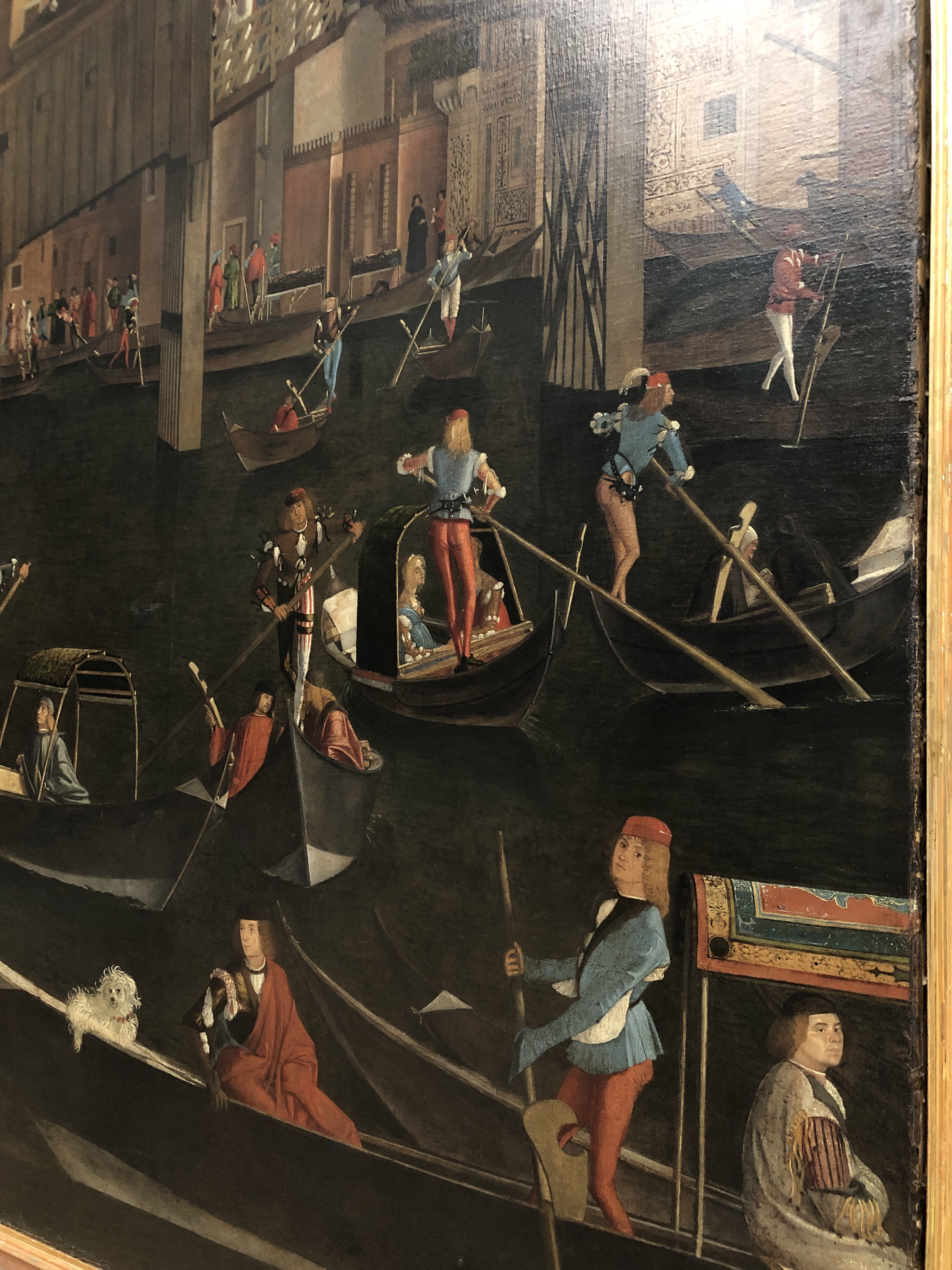 Miracle of relics of cross - painting of Rialto - Carpaccio 1494