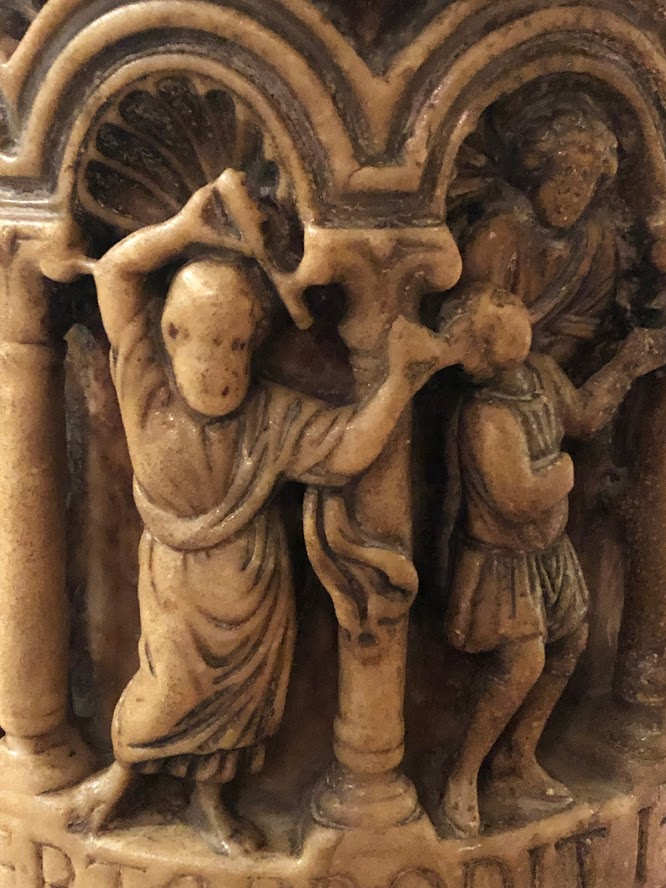Venice - San Marco - alabaster carving - detail of pillar