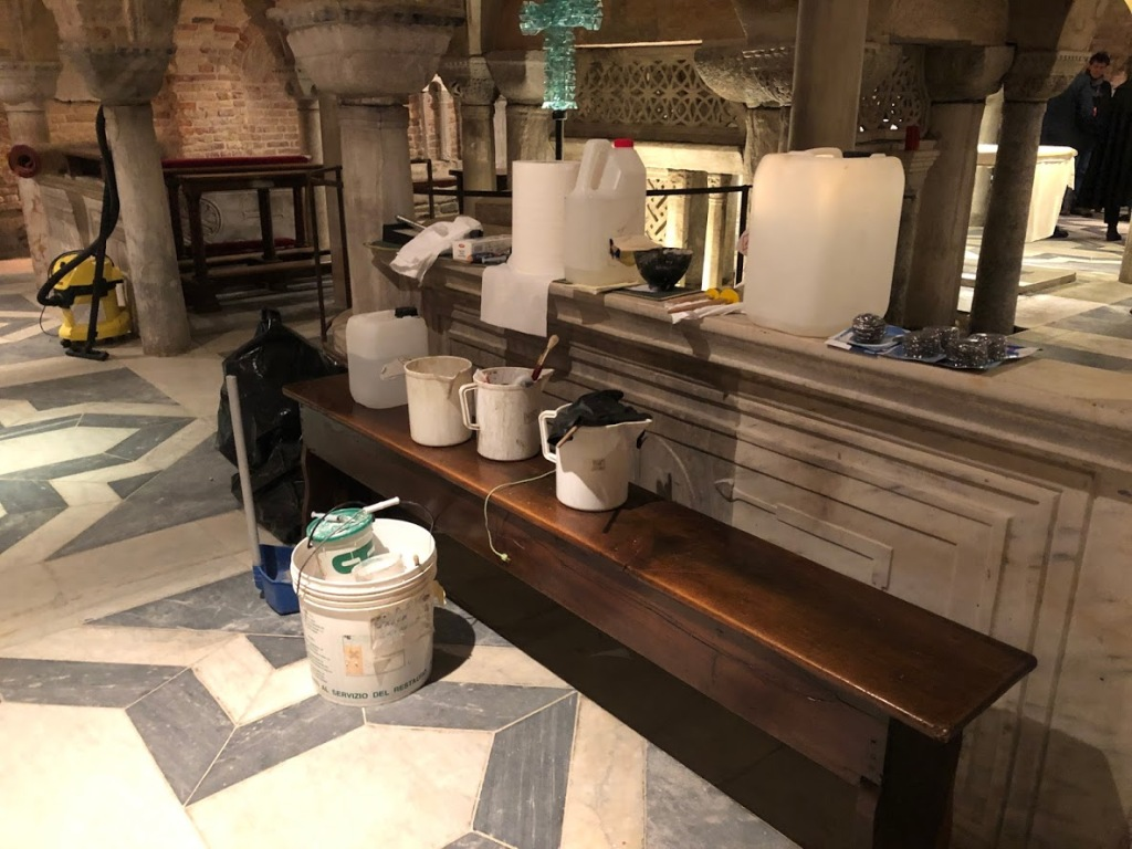 Venice - San Marco Crypt cleaning - Jan 2020