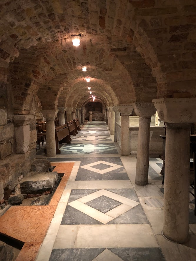 Venice - San Marco - crypt - the basement of St Mark's Basilica