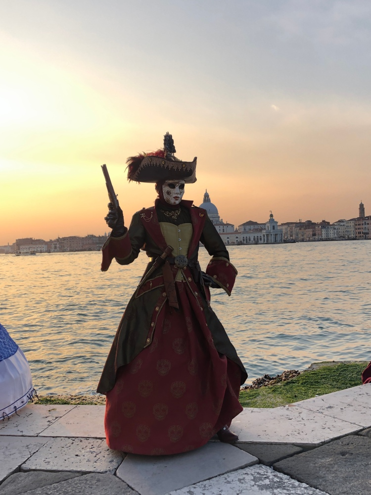 Who could argue with the Highway Woman! Venezia Carnevale 2020 www.educated-traveller.com