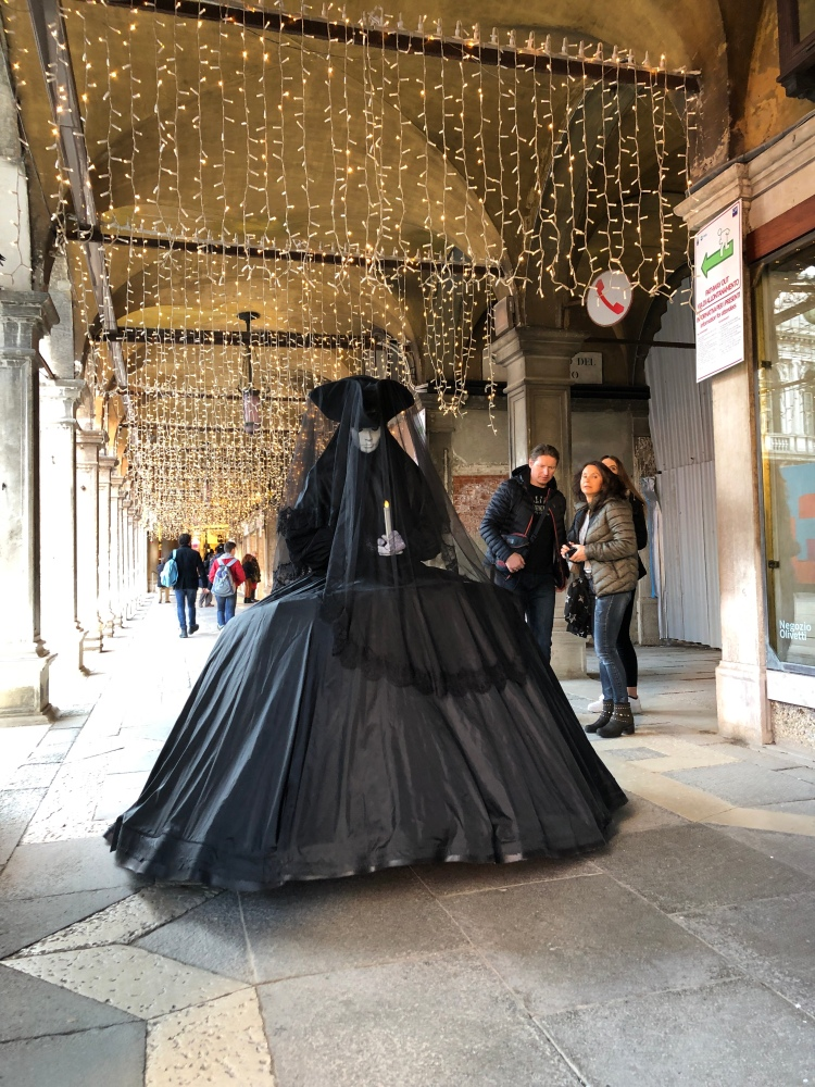 The widows weeds - she wears them well! Carnevale 2020 - a perfect example of 17th century social distancing
