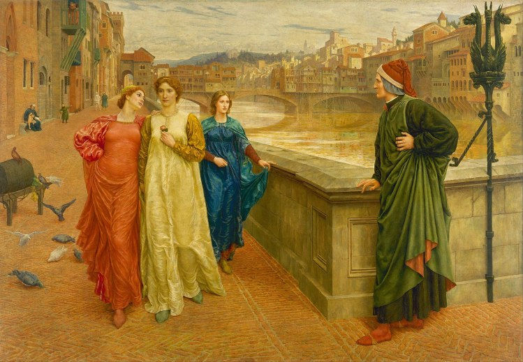 Dante and Beatrice - painting by Henry Holiday (1880s) Walker Art Gallery, Liverpool
