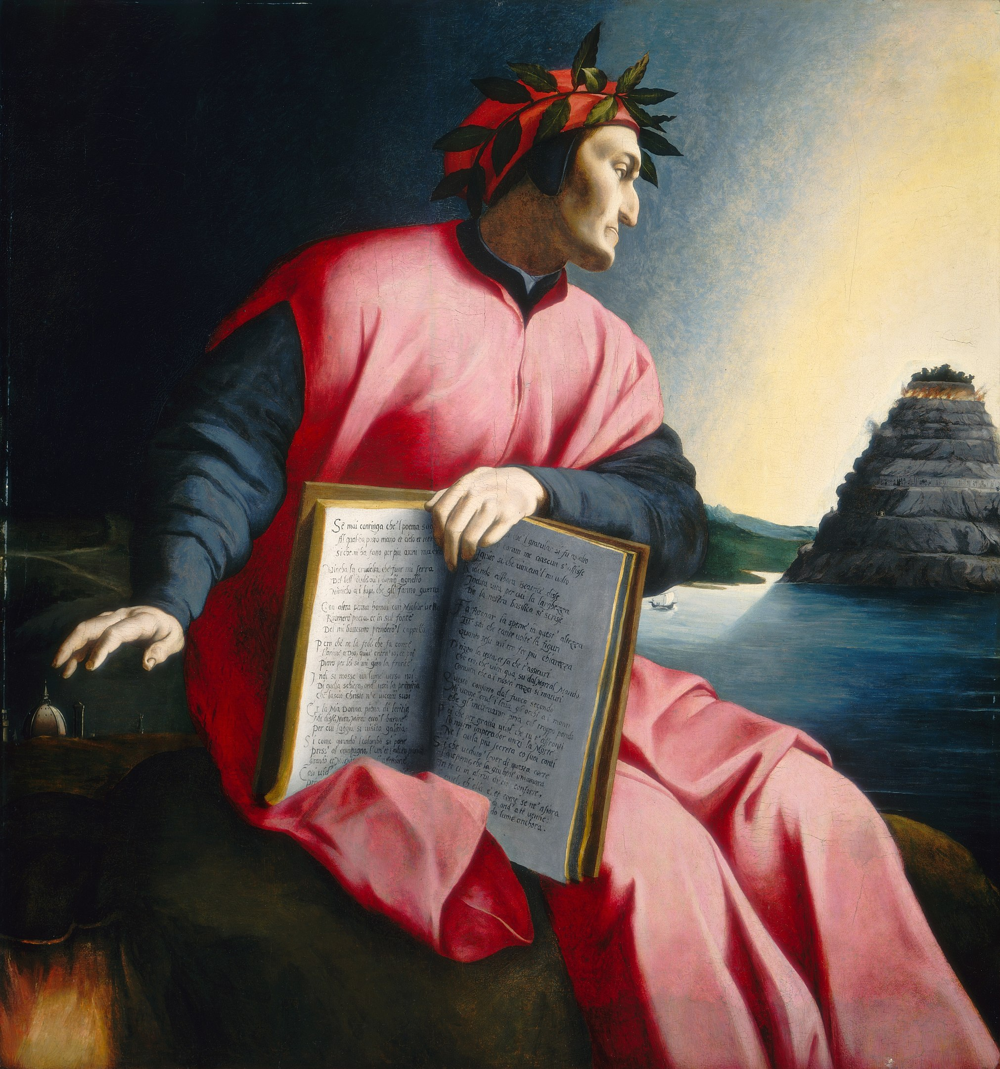 Allegorical Painting of Dante by Bronzino (1530)