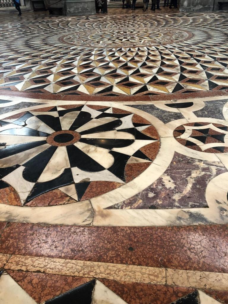 S Maria Salute - exceptional geometric, mosaic flooring