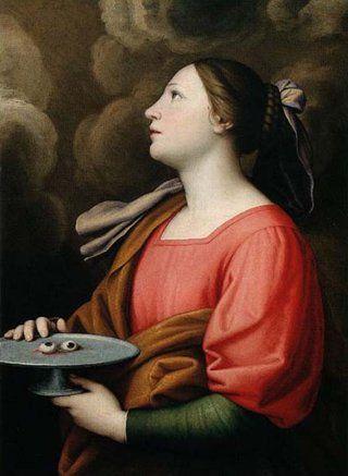 Portrait of Santa Lucia - Sassoferrato, Palazzo Chigi, Italy