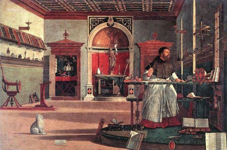 Vittore Carpaccio - Visione di Sant'Agostino - 1502 Scuola S Giorgio degli Schiavoni, Venezia