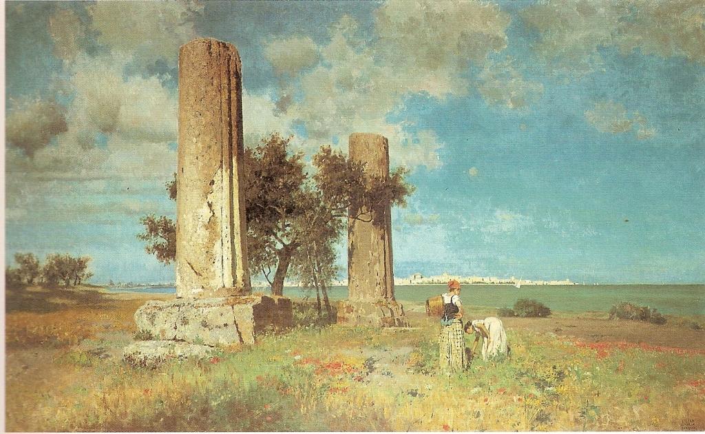 Ettore Maria Bergler - Ruins of Temple of Giove, Sicilia