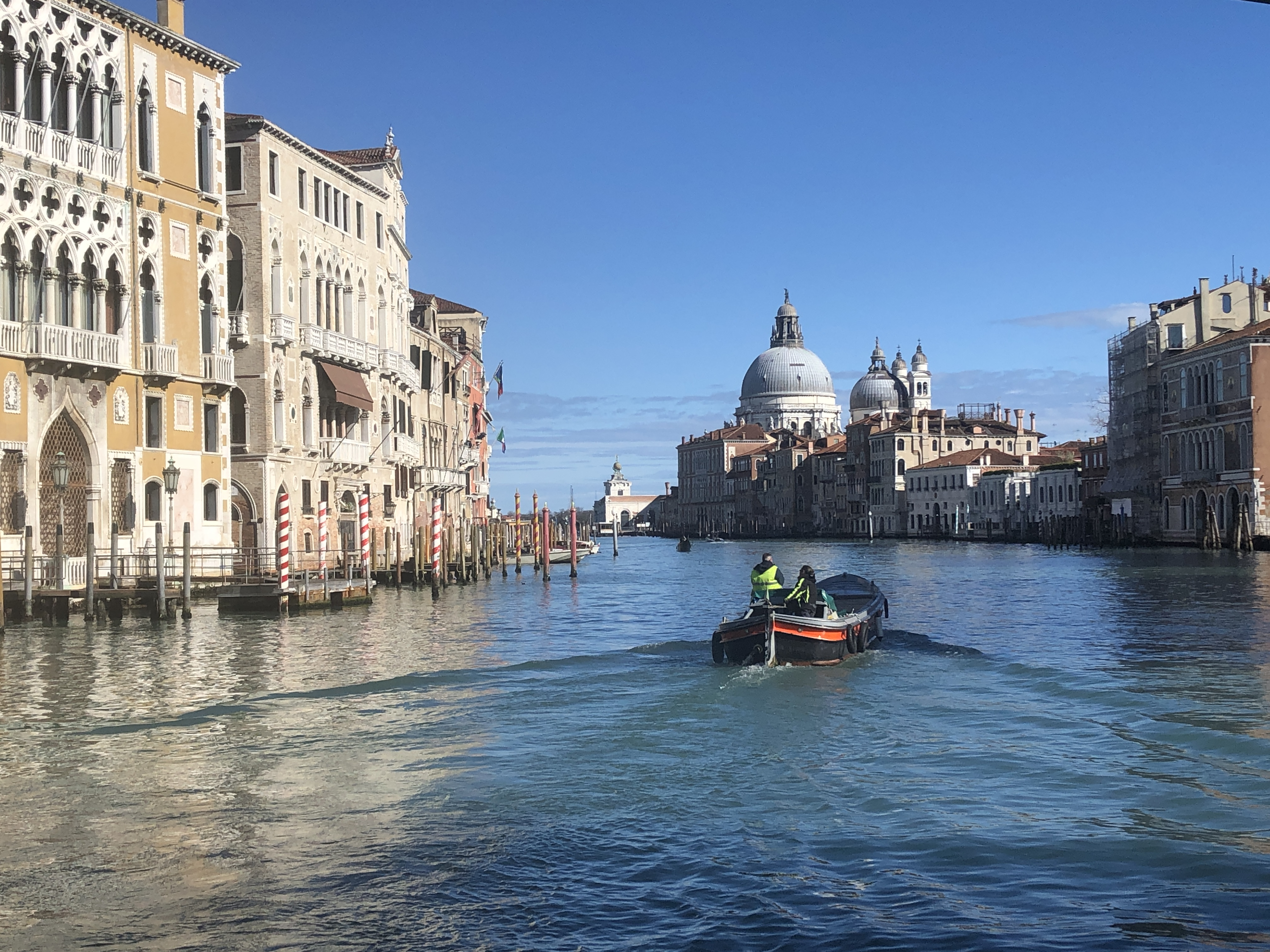 Venice - Grand Canal, Guggenheim, Salute - January, 2020