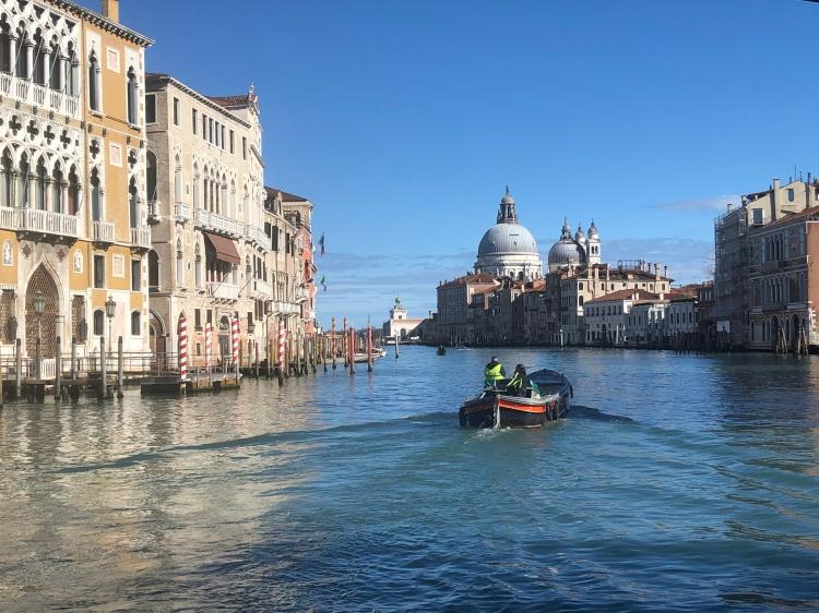 Venice - Grand Canal, Guggenheim, Salute - January, 2020