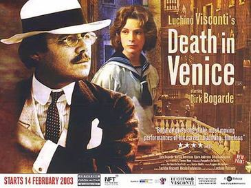 Dirk Bogarde starred in 'Death in Venice' 1971 film by Visconti, filmed in Venice and on the Lido