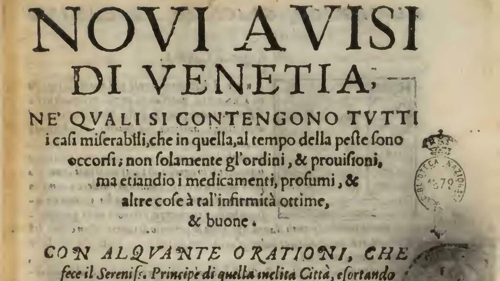 Venice - Health guidelines from the archives 19th century