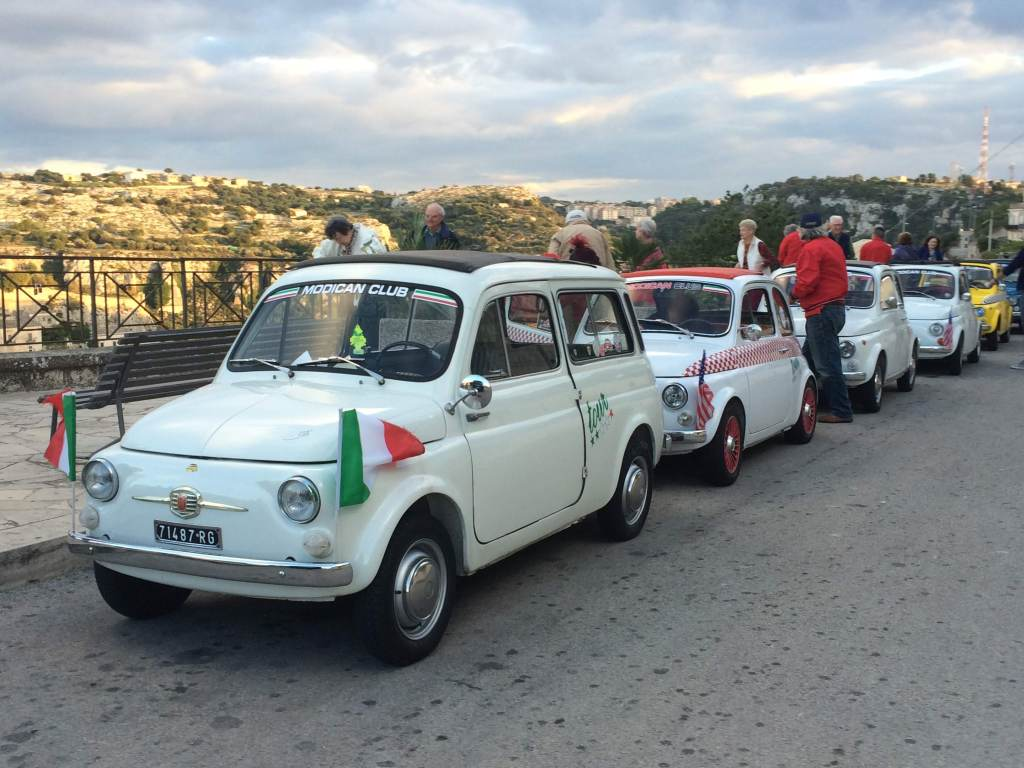 Fiat 500 Club, Modica, Sicily - this delightful owners club offers tours for visitors