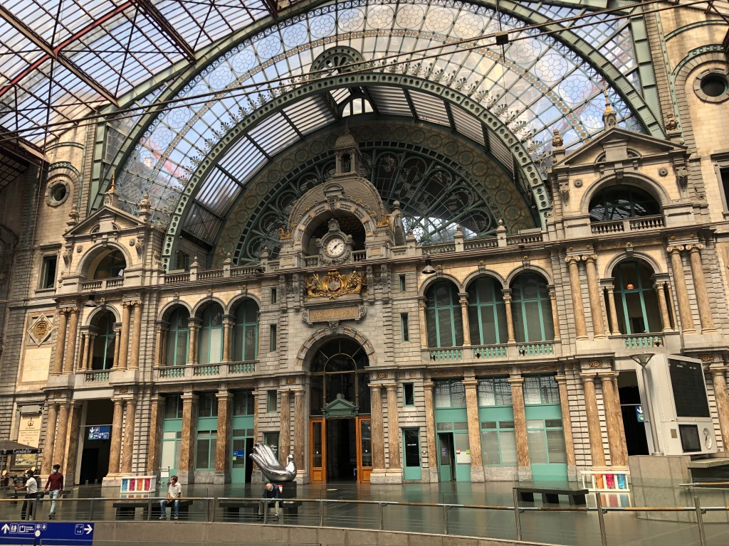 Antwerp's elegant 19th century station is grand and impressive