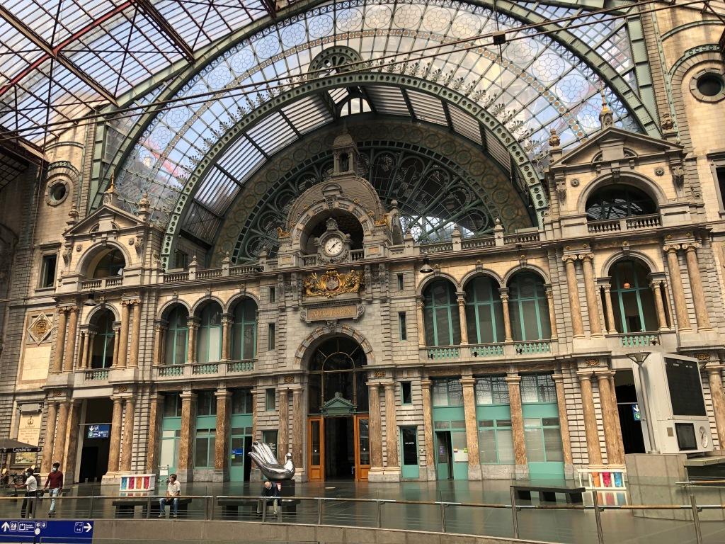 Antwerp's elegant 19th century station is grand and impressive