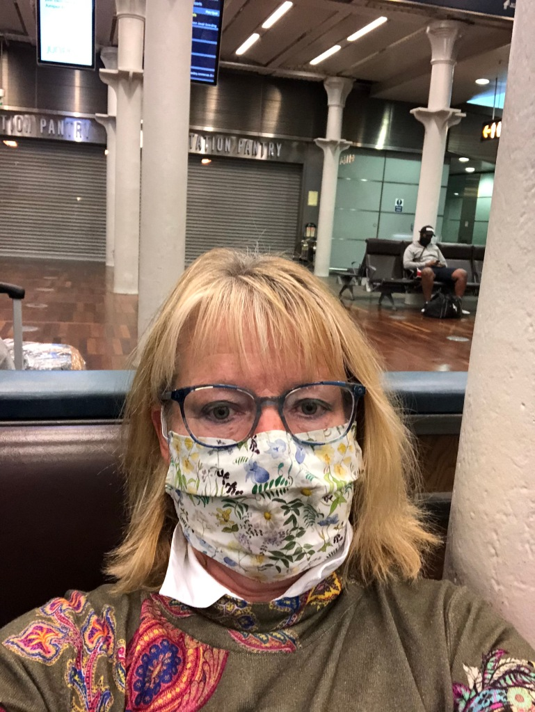 St Pancras, London - 22 June 2020 - waiting room for Eurostar, London to Brussels