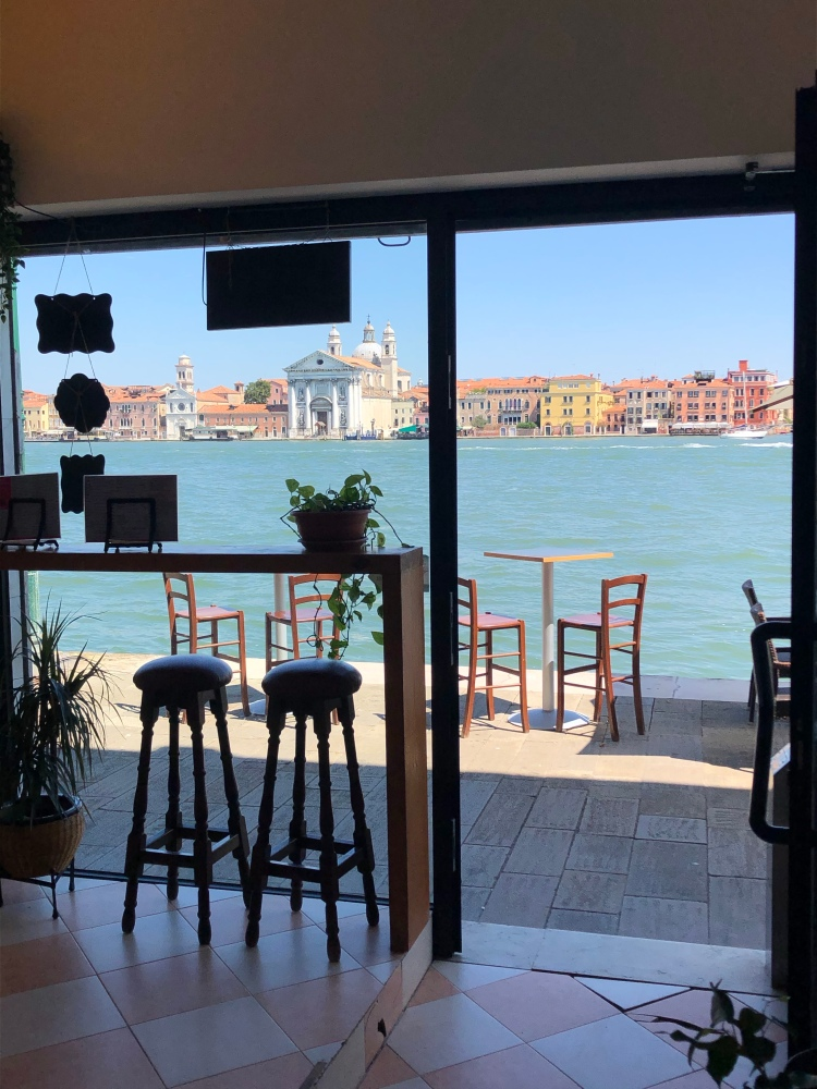 Giudecca - an amazing view from a small bar on Giudecca, looking back towards Zattere, Venezia www.educated-traveller.com