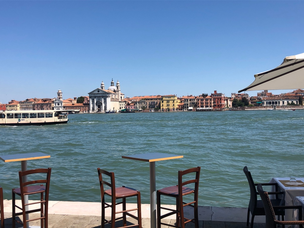 View from Giudecca Island to Zattere and the Church of the Gesuati.