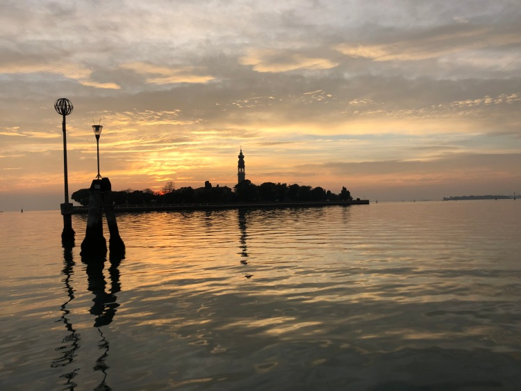 Venice - San Lazzaro degli Armeni at sunset