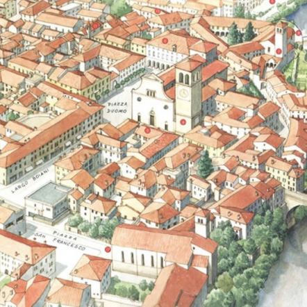 Cividale del Friuli - fabulous map by Antonio Monteverdi