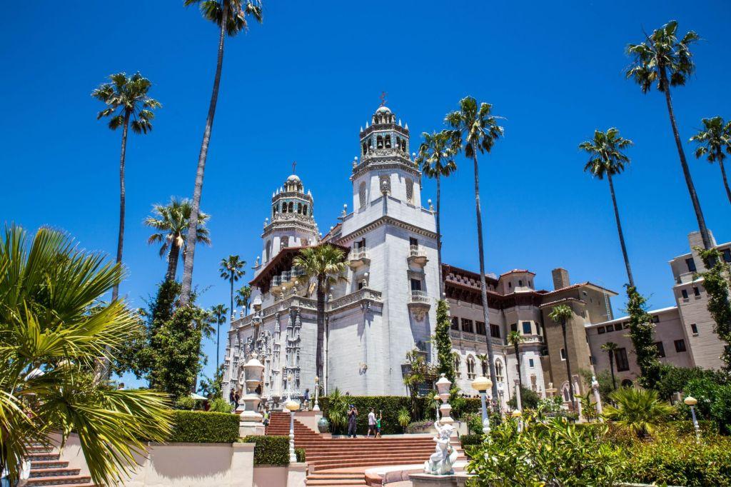 Hearst Castle - baroque facade - San Simeon, CA