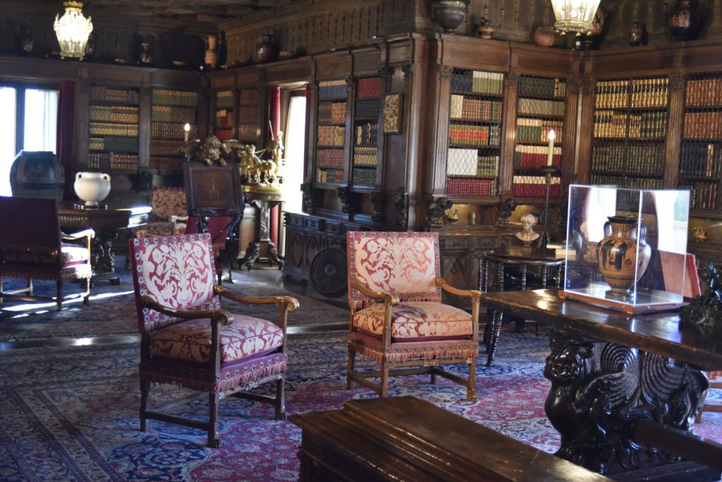 Hearst Castle - gothic library at San Simeon, California