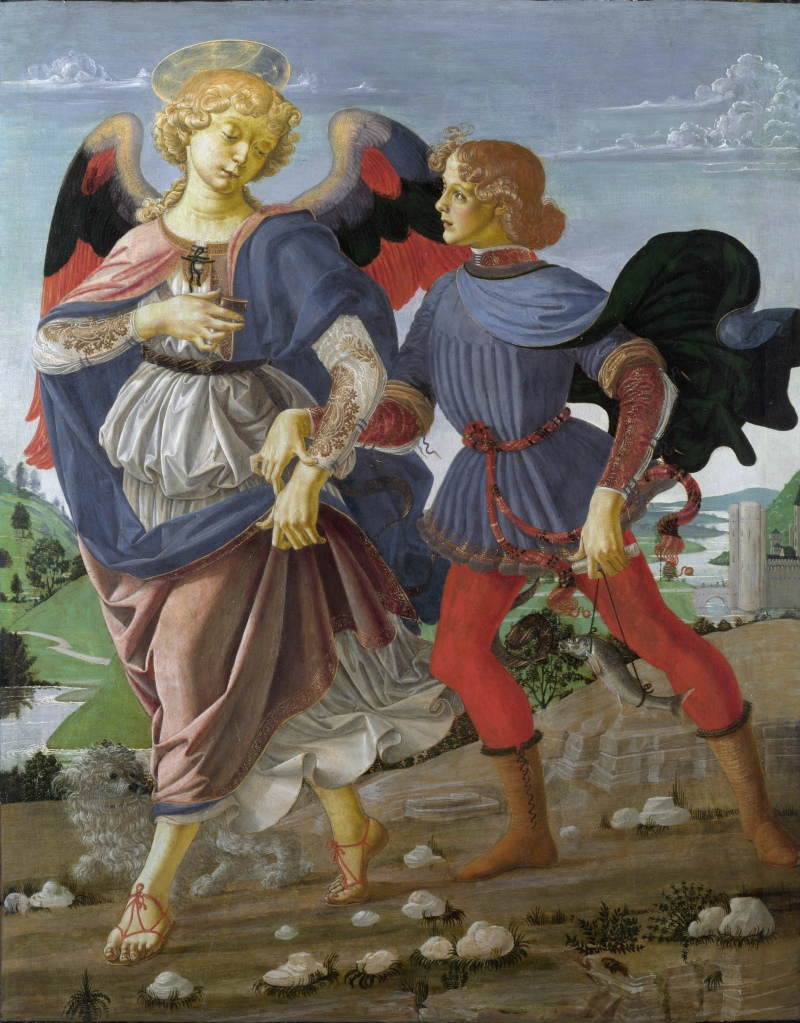 Tobias and the Angel by Verrocchio (Florence) - c. 1475