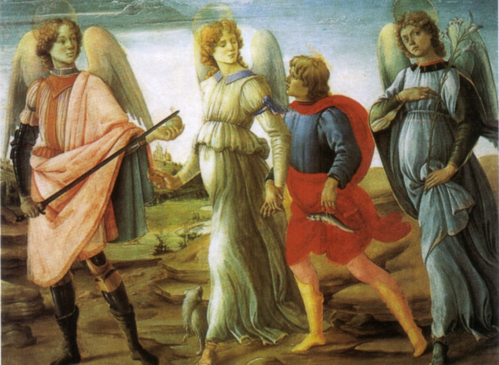 Tobias and three Guardian Angels - Fillipo Lippi (1485) Torino, Galleria Sabaudia