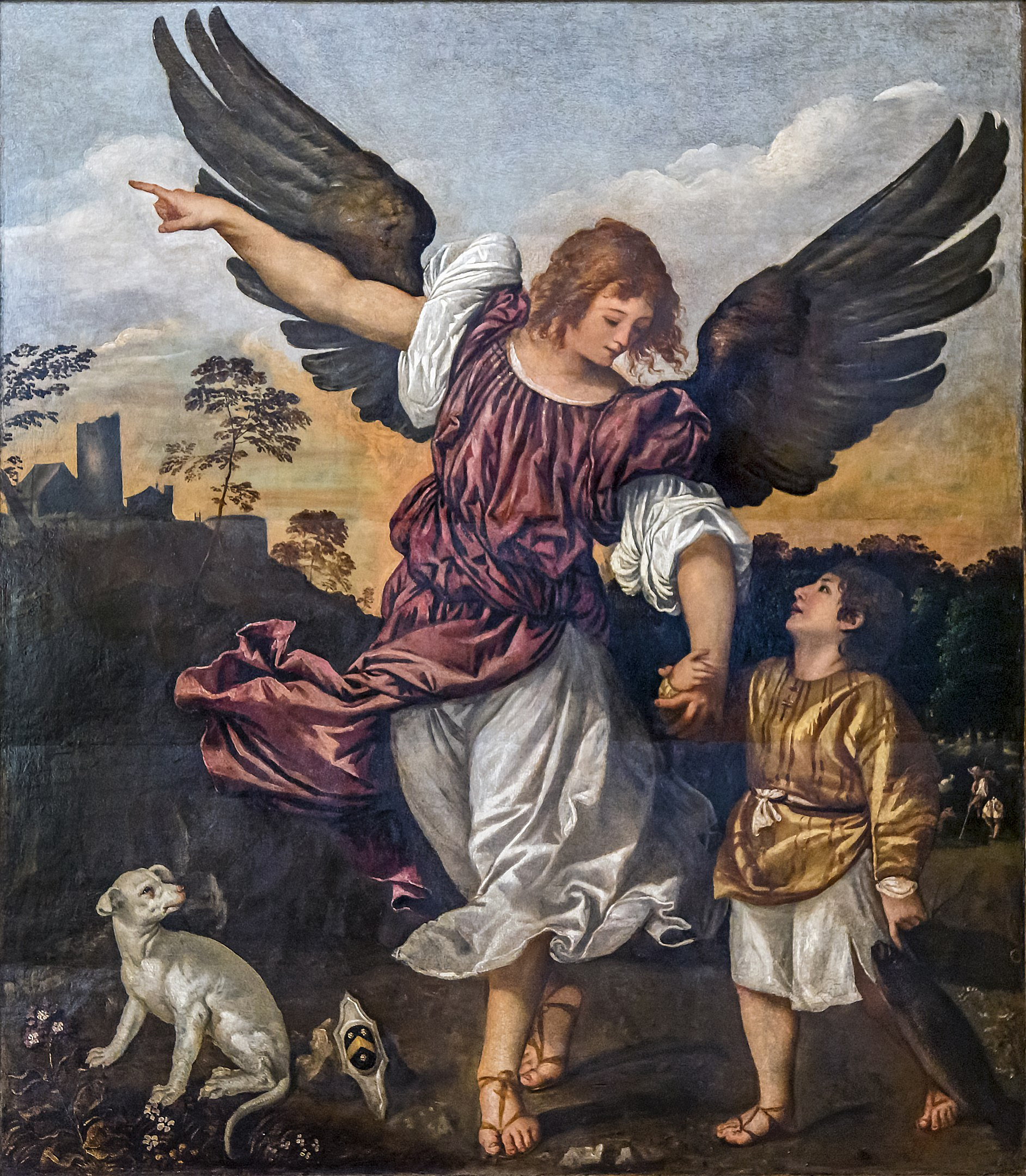 Venice - Accademia Galleries: Archangel Raphael and Tobias, by Titian