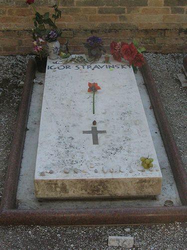Venice - tomb of Igor Stravinsky