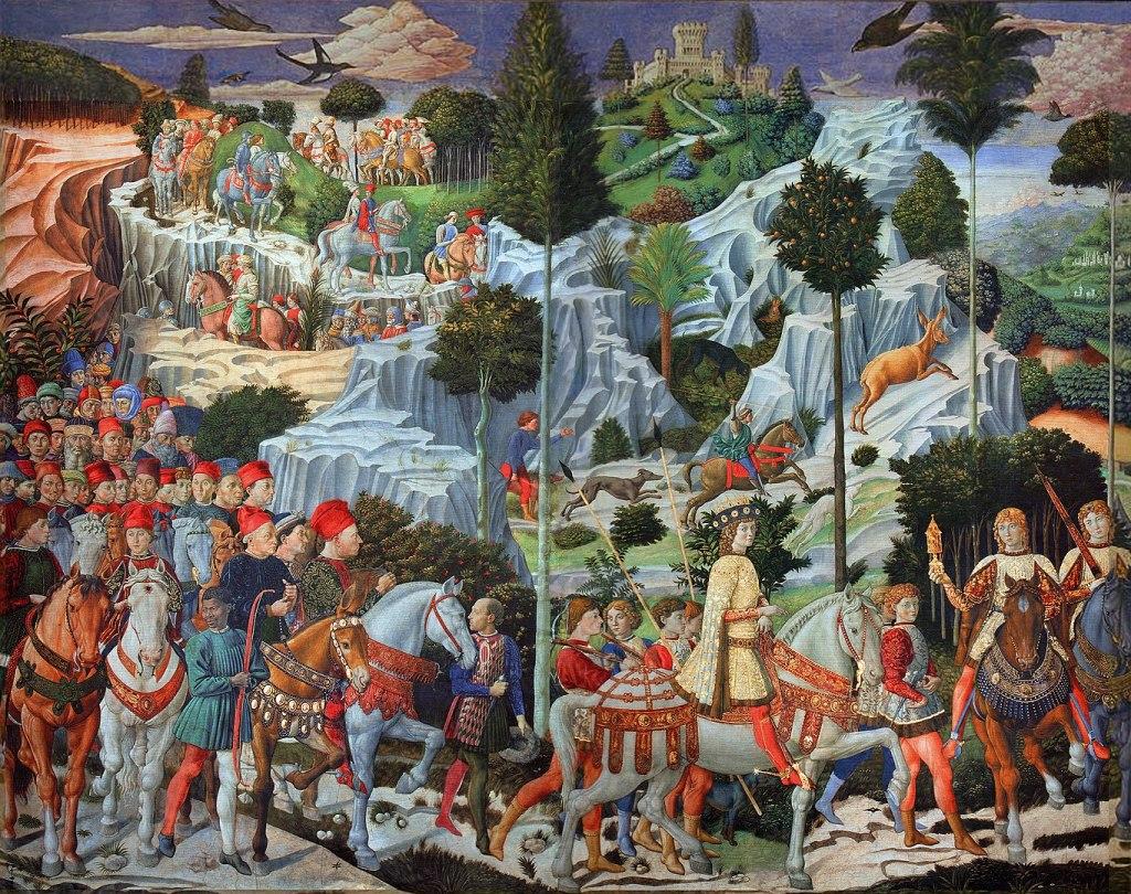 Florence - Medici Chapel frescoes by Benozzo Gozzoli - 1459