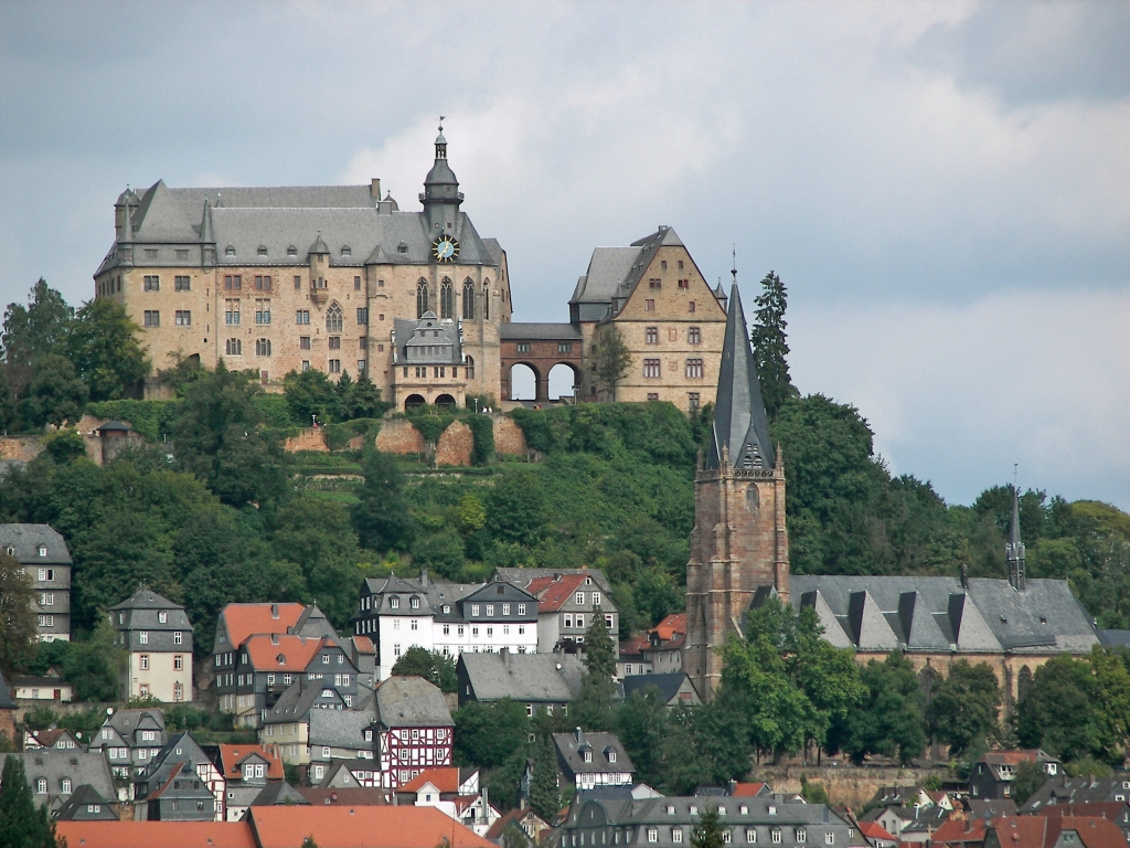 Marburg Castle dominates the skyline of this small city on the River Lahn
