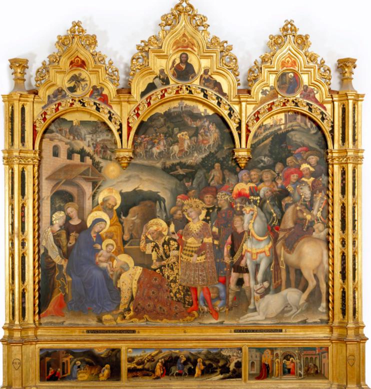 Adoration of the Magi - Gentile di Fabriano 1420s, Uffizi Gallery, Florence