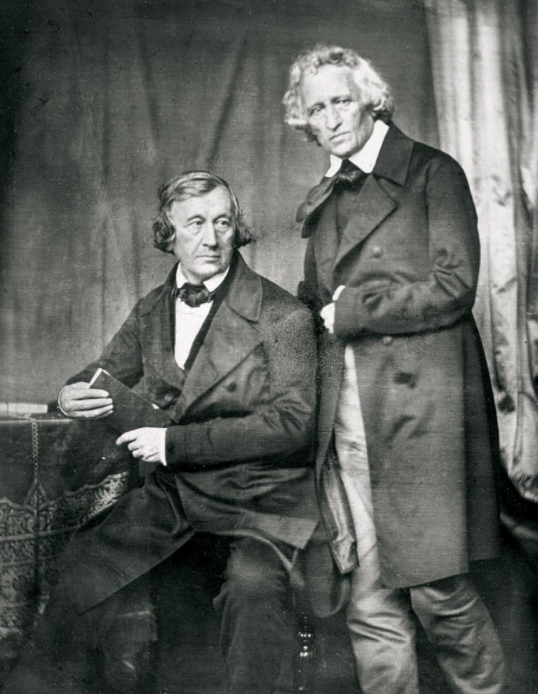 The Brother's Grimm - Jacob and Wilhelm from an 1850s portrait